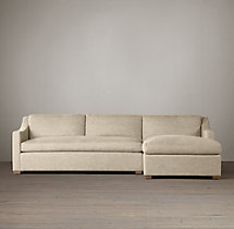 Preconfigured Belgian Classic Slope Arm Upholstered Right-Arm Chaise Sectional
