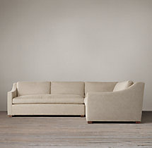 Preconfigured Belgian Classic Slope Arm Upholstered Corner Sectional