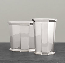 Faceted Metal Accessories - Canister