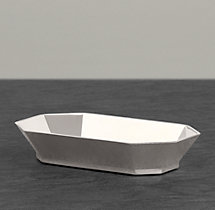 Faceted Metal Soap Dish