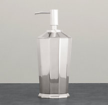 Faceted Metal Dispenser - Polished Nickel