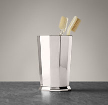 Faceted Metal Tumbler - Polished Nickel