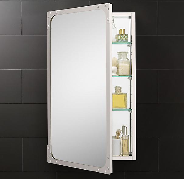 Industrial rivet medicine cabinet - Restoration hardware cabinets ...