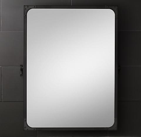 Framed pivot mirror