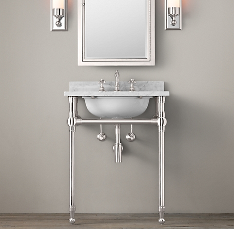 Bathroom Fixtures Restoration Hardware gramercy metal sinks & washstands | rh