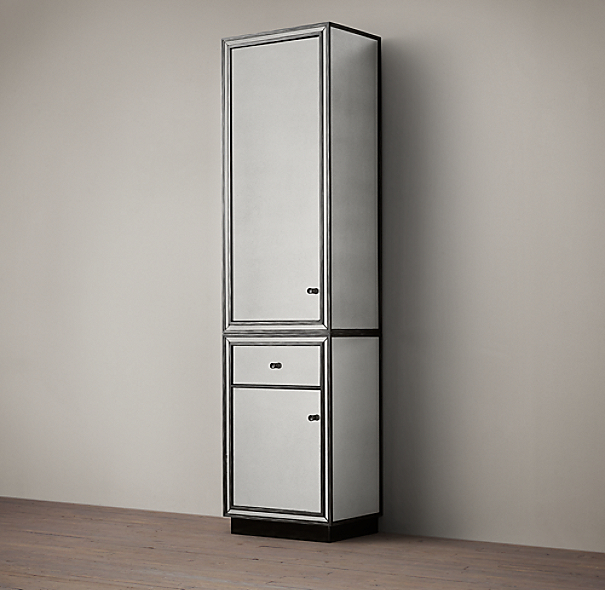 mirrored tall bathroom cabinet strand mirrored bath cabinet 23413