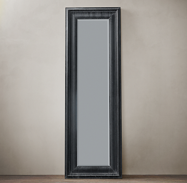 Baroque weathered zinc leaner mirror for Baroque leaner mirror