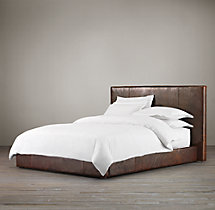 Sullivan Leather Platform Bed