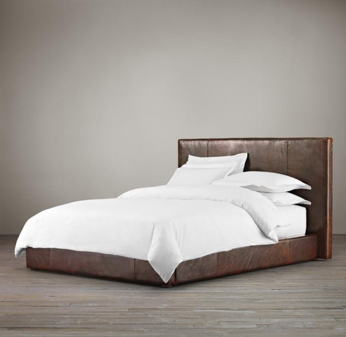Sullivan Leather Platform Bed