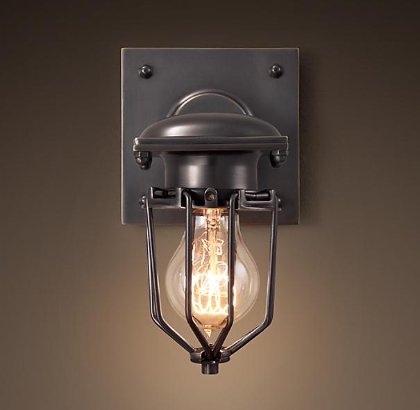 Restoration Hardware Festoon Lighting: Metropolitan Railway Sconce