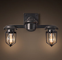 Metropolitan Railway Double Sconce