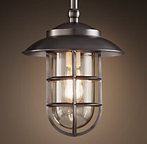 Starboard Pendant With Shade - Bronze