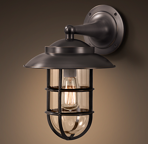 Restoration Hardware Light Fixture Sale: Starboard Sconce With Shade