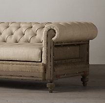 6' Deconstructed Chesterfield Upholstered Sofa