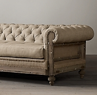 Deconstructed Chesterfield Upholstered Sofa