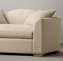 5' Belgian Camelback Upholstered Sofa