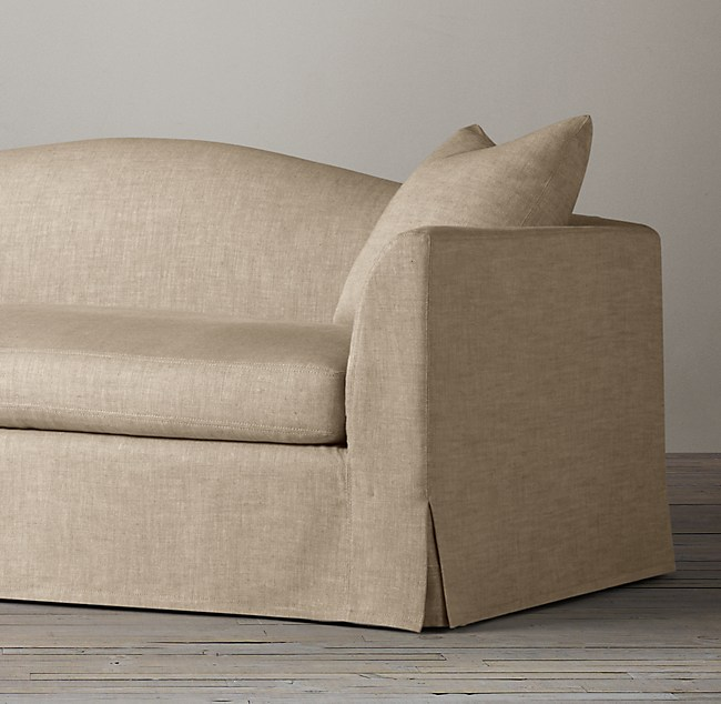 Belgian Camelback Slipcovered Sofa