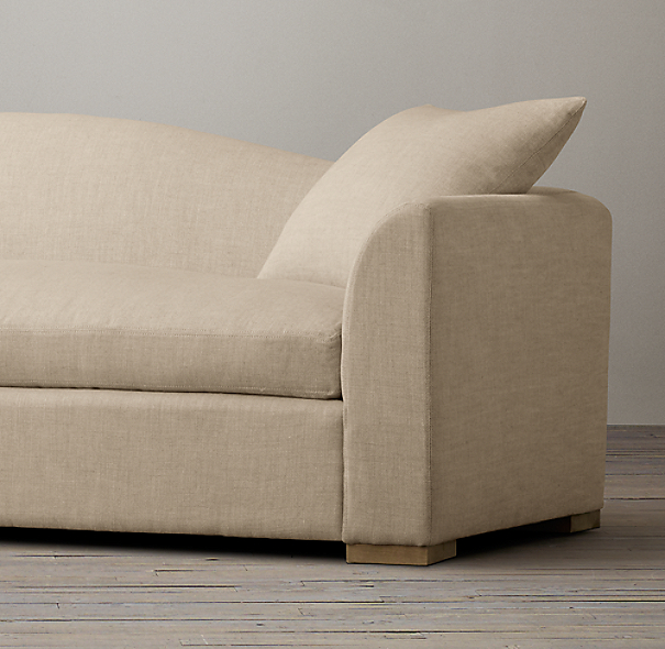 Belgian Camelback Upholstered Sofa