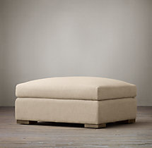 Belgian Classic Slope Arm Upholstered Ottoman