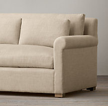 5' Belgian Petite Roll Arm Upholstered Sofa