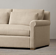 6' Belgian Petite Roll Arm Upholstered Sofa