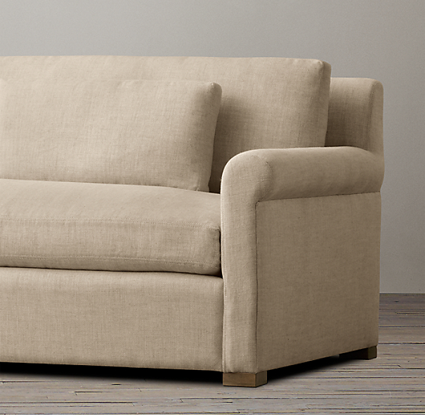 Belgian Petite Roll Arm Upholstered Sofa