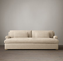Belgian Petite Roll Arm Upholstered Daybed