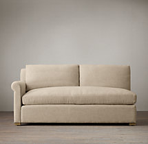 Belgian Petite Roll Arm Upholstered Left-Arm Sofa