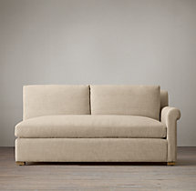 Belgian Petite Roll Arm Upholstered Right-Arm Sofa