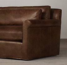 5' Belgian Petite Roll Arm Leather Sofa