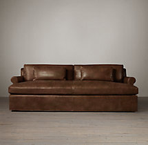 Belgian Petite Roll Arm Leather Daybed