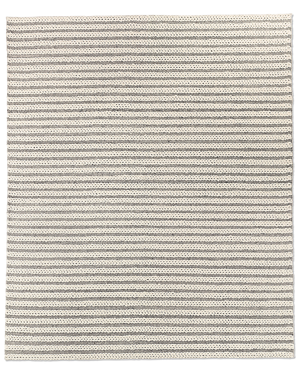 Braided Stripe Rug - Grey