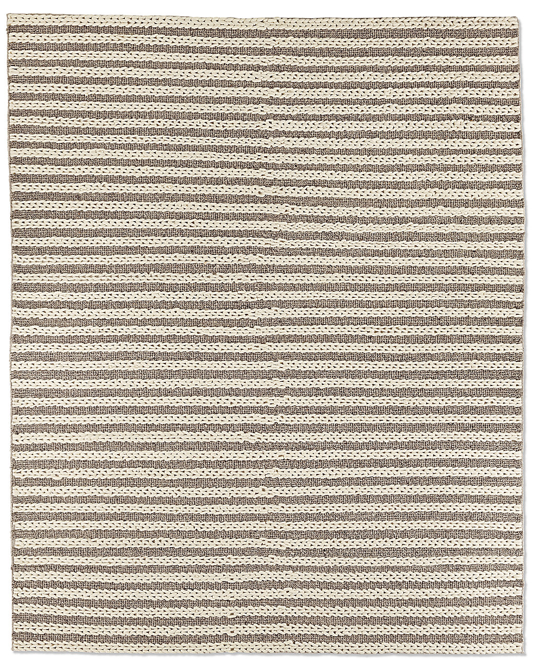 Braided Stripe Rug - Marled