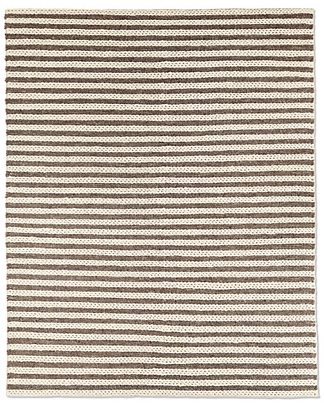 Braided Stripe Rug - Mocha
