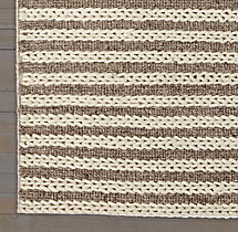 Braided Stripe Rug Swatch - Marled