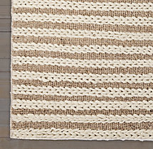 Braided Stripe Rug Swatch - Oatmeal