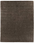 Striated Plush Wool Rug - Charcoal