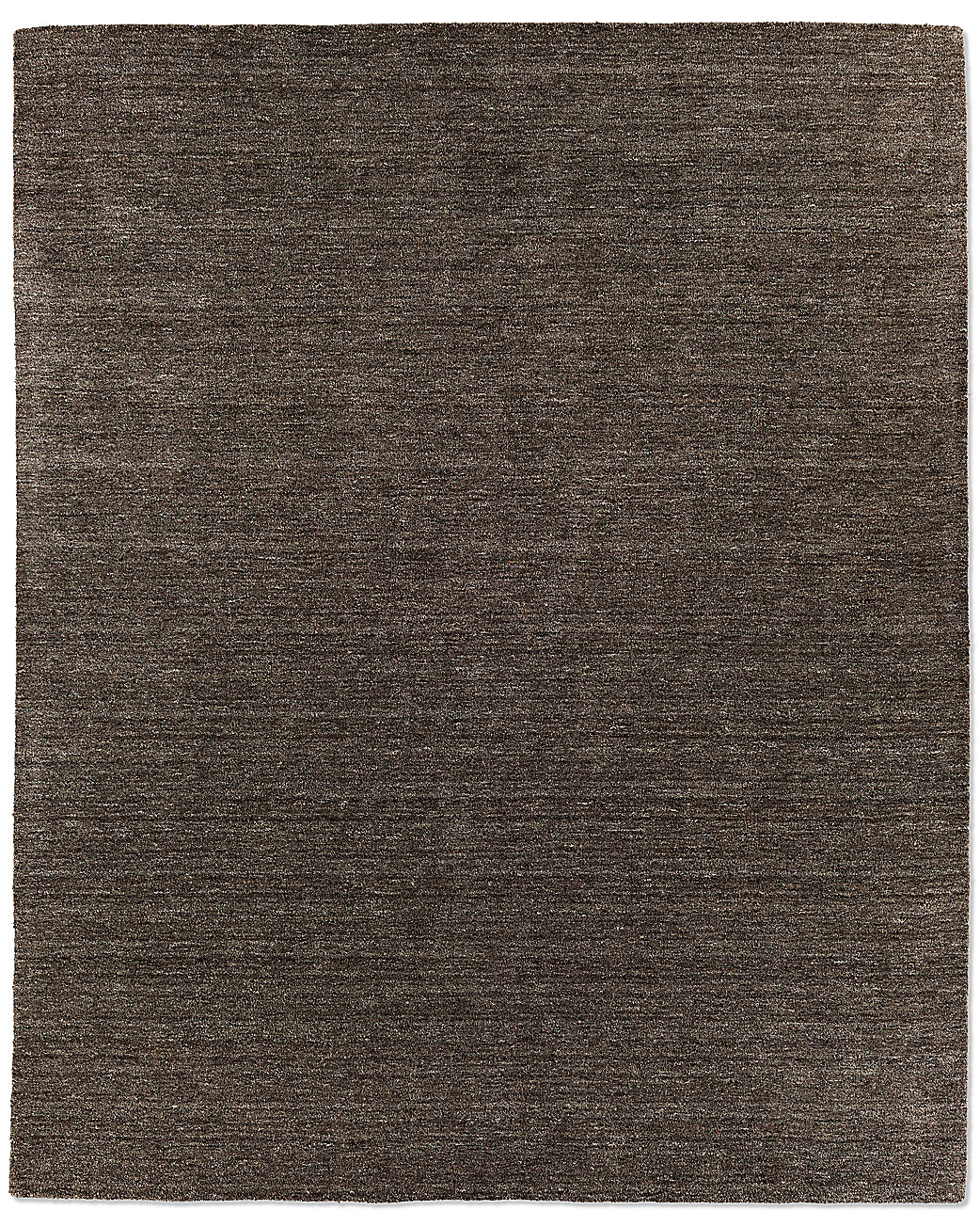 Striated plush wool rug charcoal for Restoration hardware rugs on sale