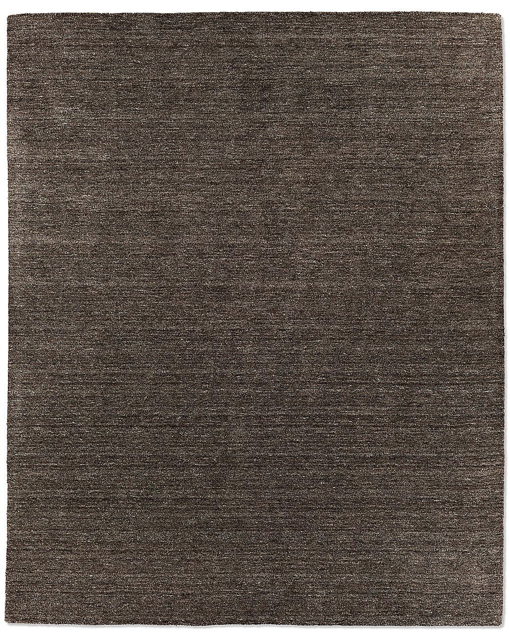 Striated Plush Wool Rug Charcoal