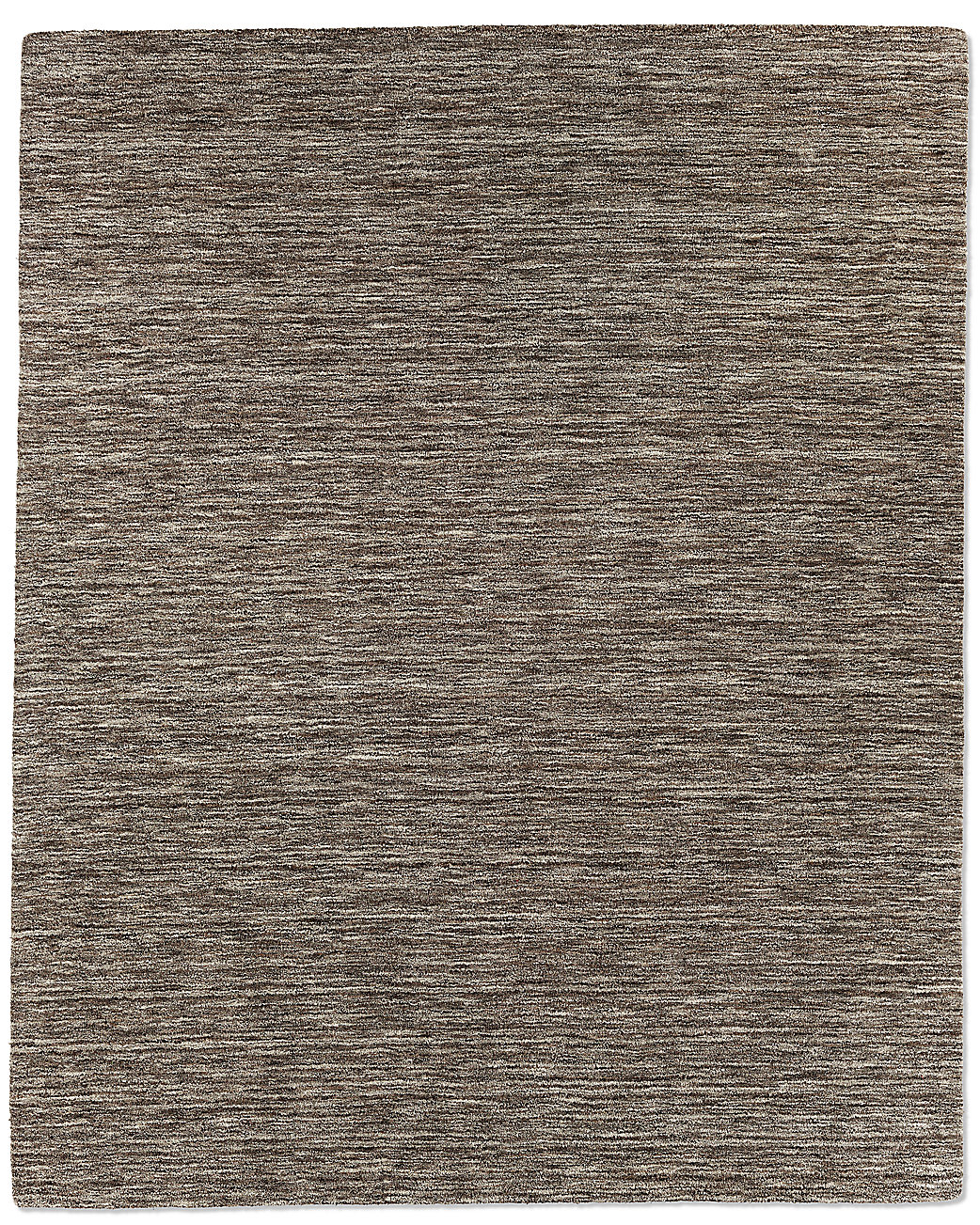 Striated Plush Wool Rug - Marled