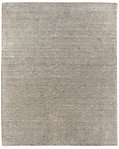 Striated Plush Wool Rug - Grey