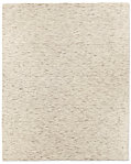 Striated Plush Wool Rug - Cream