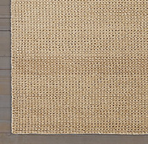 Braided Felt Rug Swatch - Flax