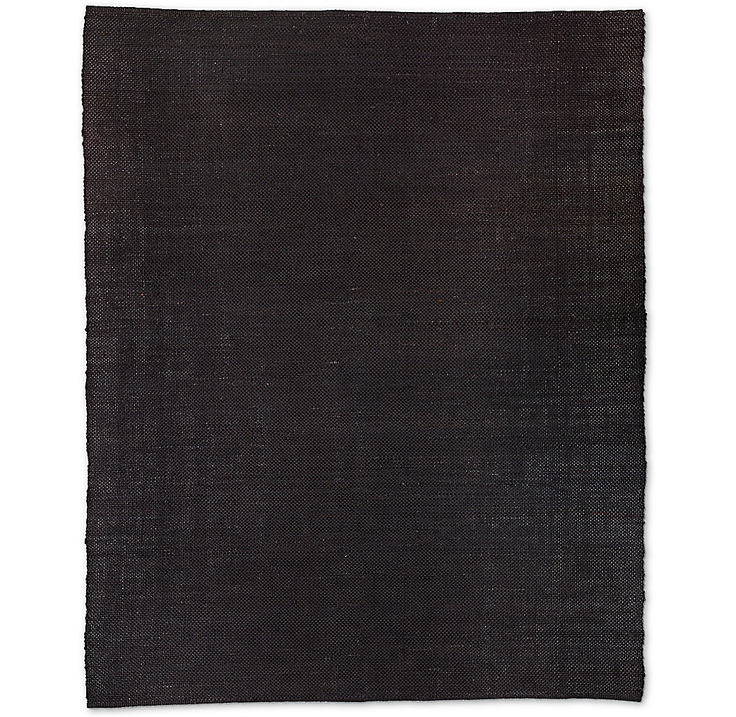 Basket Weave Hemp Rug - Charcoal