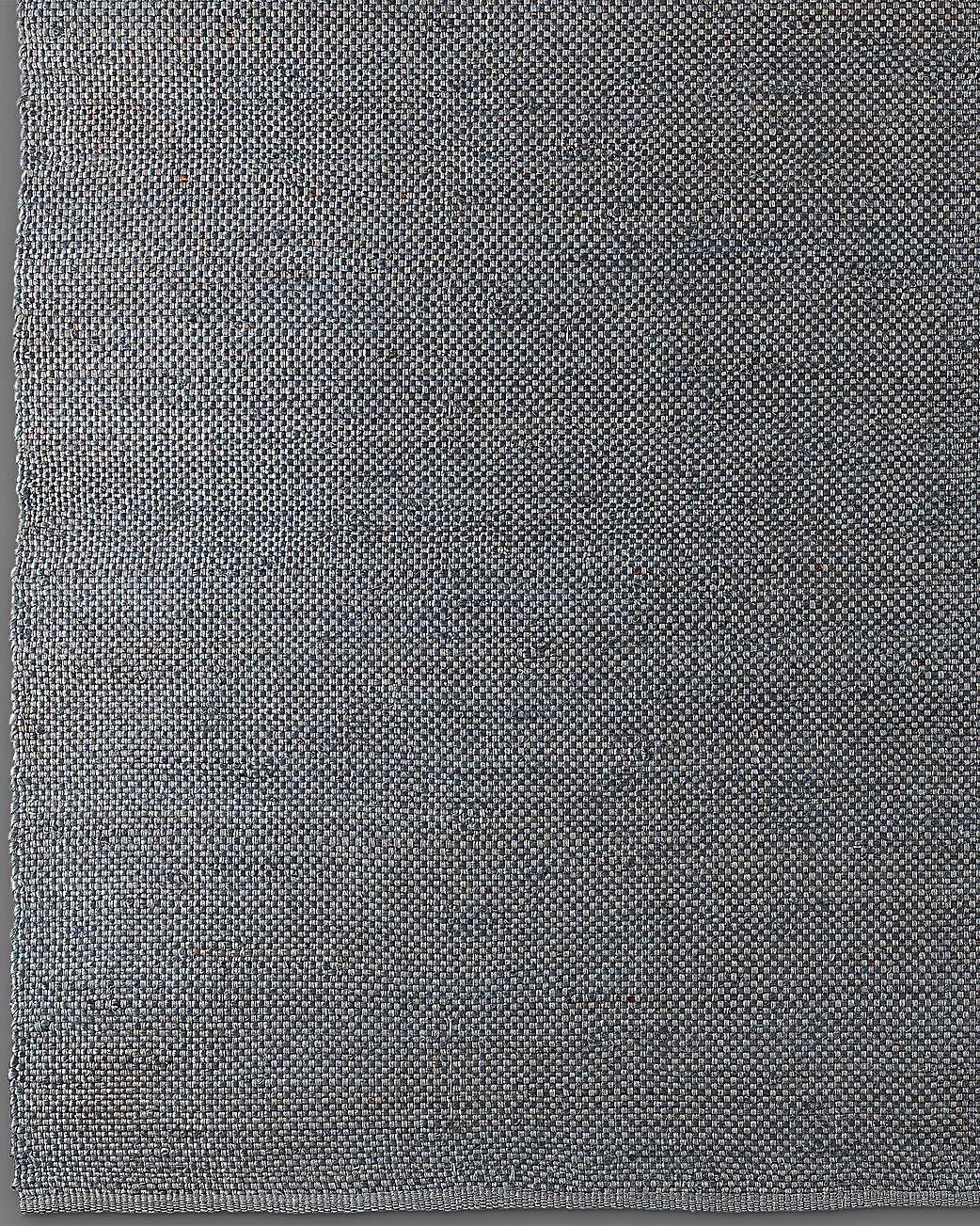 Basket Weave Hemp Rug - Grey