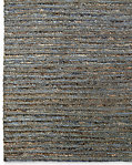 Linear Hemp Rug - Blue