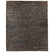 Linear Hemp Rug - Indigo