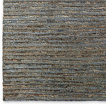 Linear Hemp Rug Swatch - Blue