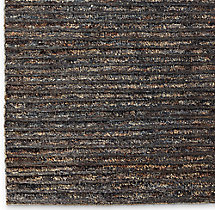 Linear Hemp Rug Swatch - Indigo