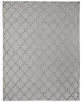 Diamante Flatweave Linen Rug - Light Grey/Light Grey